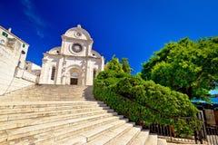 Sibenik st. James UNESCO cathedral Royalty Free Stock Image