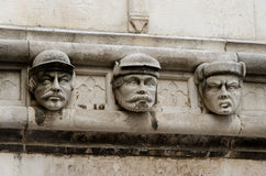 Sibenik. Stone Heads. Stone heads at Cathedral of St James build in Gothic and Renaissance style. UNESCO World Heritage Site. - Sibenik, Croatia Stock Images