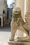 Sibenik. Stone Lion Royalty Free Stock Photo
