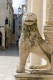 Sibenik. Stone Lion. Stone lion at the door of the cathedral of Sibenik, Croatia Royalty Free Stock Photo
