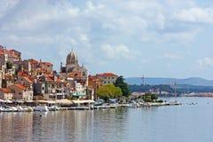 Sibenik, town on Adriatic sea Stock Photos