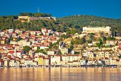 Sibenik UNESCO world heritage town waterfront view Royalty Free Stock Photo