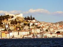 Sibenik. View of Sibenik in Croatia in Europe Royalty Free Stock Photo
