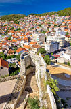 Sibenik view from fortress vertical view Stock Images