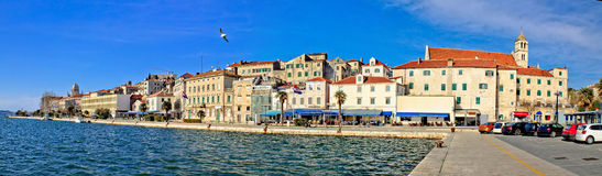 Sibenik waterfront architecture panoramic view Stock Image