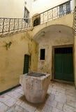 Sibenik. Well. Well in a courtyard of the Croatian town of Sibenik Royalty Free Stock Photos