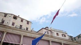 Sibenikstad op Dalmatische Kust, Kroatië Europa stock footage