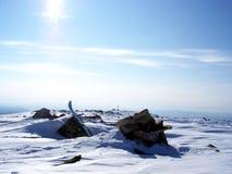 Siberië, de sterkte van de bergen Royalty-vrije Stock Foto's