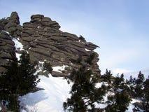 Siberië, de sterkte van de bergen Stock Afbeeldingen