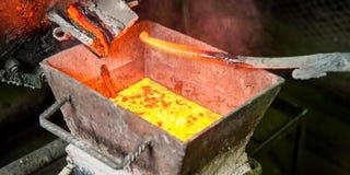Siberië, Rusland - het ruien goud Stock Fotografie