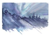 siberia abstrakcjonistyczny tło zaświeca północnego wektor Obraz Royalty Free