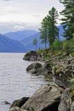 Siberia, Teletskoye Lake. View from the eastern shore Stock Photography