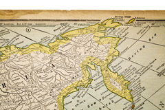 Siberia on a vintage map Stock Photography