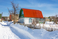 Siberia in the winter. Rural landscape Royalty Free Stock Photography