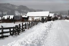 Siberian село Стоковые Фотографии RF
