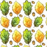 Siberian autumn watercolor pattern stock illustration