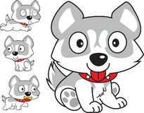 Siberian dog cartoon Stock Photo