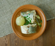 Siberian fish soup of omul Royalty Free Stock Photo