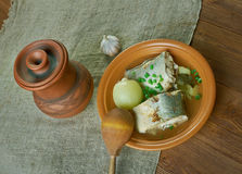 Siberian fish soup of omul Royalty Free Stock Images