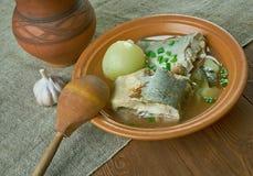 Siberian fish soup of omul Royalty Free Stock Photos