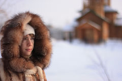 Siberian girl Royalty Free Stock Images