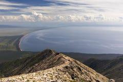 Siberian lake Baikal seen from Svyatoy Nos peninsula. Lake Baikal seen from Svyatoy Nos peninsula royalty free stock photos