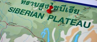 Siberian map Stock Photography