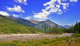 Siberian mountain river valley royalty free stock photography