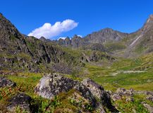 Siberian mountain tundra Royalty Free Stock Photo