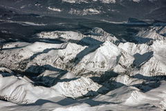 Siberian mountains stock photography