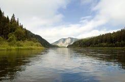 Siberian river landscape Stock Image