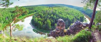 Siberian taiga landscape Royalty Free Stock Image