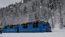 Siberian taiga, vinter Ryssland, Trans.-siberian järnväg Arkivfoto