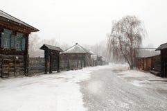 Siberian urban-type settlement Shushenskoye royalty free stock photography
