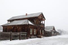 Siberian urban-type settlement Shushenskoye stock photos