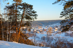 Siberian village in winter Royalty Free Stock Image