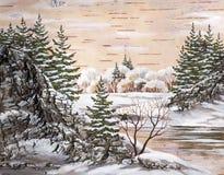 The Siberian winter lake Stock Photos