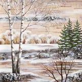 The Siberian winter lake Royalty Free Stock Image