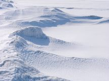 Siberian winter landscape Stock Image