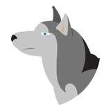 Siberiano fornido pedigrí de la cabeza de perro Stock de ilustración