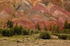Siberisch berglandschap, kyzyl-Chinskaya oblast Rusland Stock Afbeeldingen