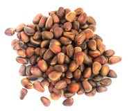 Siberisch Cedar Pine Nuts Background Stock Foto's