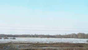 Siberisch de lentelandschap