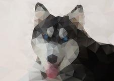 Siberisch Husky Geometric Style royalty-vrije illustratie