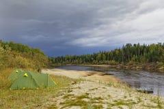 Siberisch landschap stock foto
