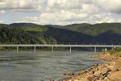 Siberische rivier Royalty-vrije Stock Fotografie