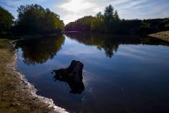 Siberische rivier Stock Foto's