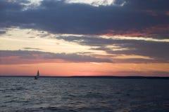 Siberische zonsondergang Stock Foto