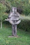 SIBIEL, TRANSYLVANIA/ROMANIA - 16 DE SEPTIEMBRE: Vista de una c de madera foto de archivo