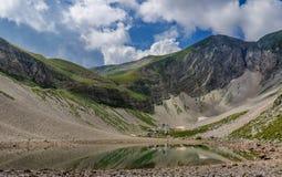 Sibillini mountains Pilato lake Italy Royalty Free Stock Photo